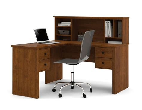 Office Furniture Walmart Canada by Bestar Somerville L Shaped Desk With Hutch In Tuscany