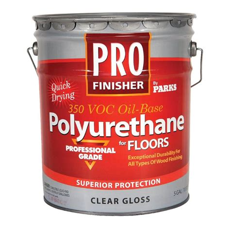 Rust Oleum Parks Pro Finisher  Gal Clear Gloss  Voc