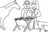 Coloring Jesus Bible Born Children Curriculum Teaching Sunday sketch template