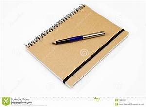 Notebook With Pen Clipart - ClipartXtras