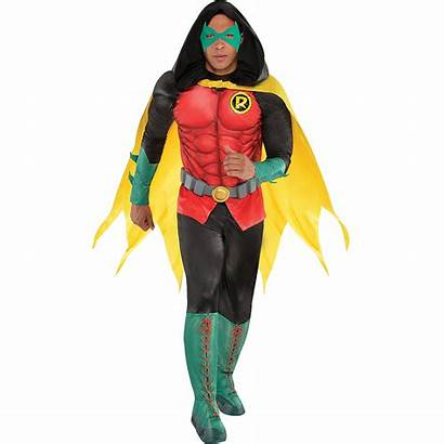 Robin Dc Adult Costume Comics Muscle Party
