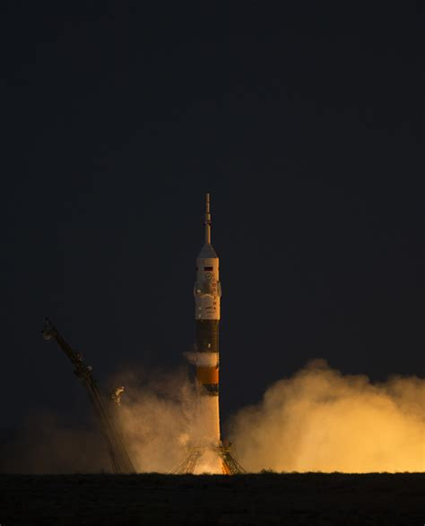 International Crew Launches To Space Station