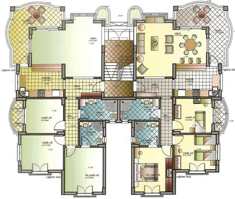 Floor Plans For Apartment Buildings by Apartment Building Plans 6 Condos Modern Apartment