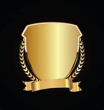 Premium Goud Gouden Lauweren Schild Zwart