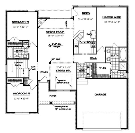 split bedroom floor plans open floor plan ranch ranch split bedroom floor plans with