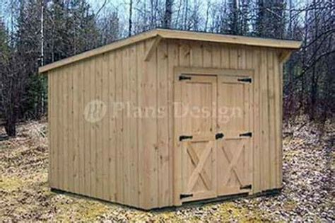 7' x 8' Garden Storage Lean To Roof Shed Plans #80708   eBay