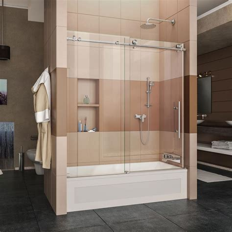 Bath Tub Shower Doors by Dreamline Enigma X 56 In To 59 In X 62 In Frameless