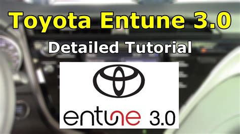 toyota tech support toyota entune 3 0 2018 detailed tutorial and review