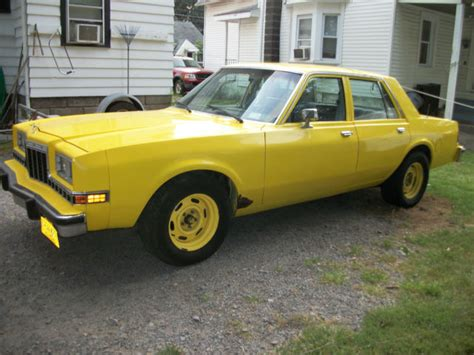 Dodge Diplomat For Sale by 1984 Dodge Diplomat Ahb Package For Sale