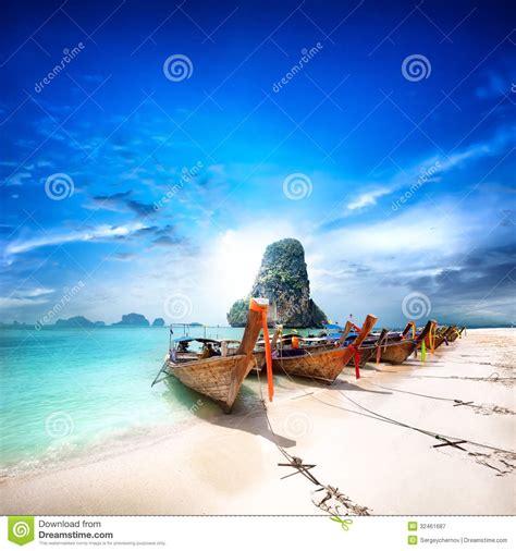 Thailand Beach On Tropical Island Beautiful Travel