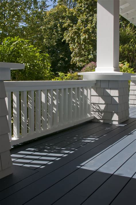 gallery closer look gray exterior porch paint deck