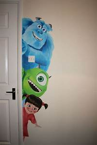 25 best ideas about disney wall murals on pinterest With monsters inc wall decals for kids room