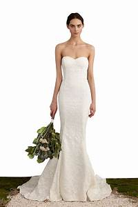 Simple Strapless Sweetheart Neckline Mermaid Lace Wedding ...