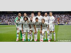 Real Madrid's starting lineup for the Champions League