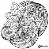 Drawings Coloring Pages Trippy Mandala Abstract Mehndi Visit Rivera Pen sketch template