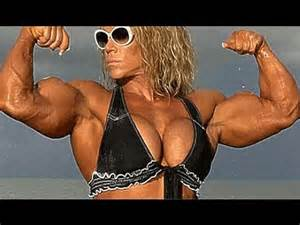 Planet Fitness Tanning Beds biggest muscular female bodybuilders biceps peak