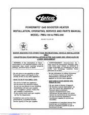 hatco pmg 100 manuals