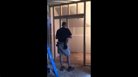 heavy duty pocket door frame installation youtube