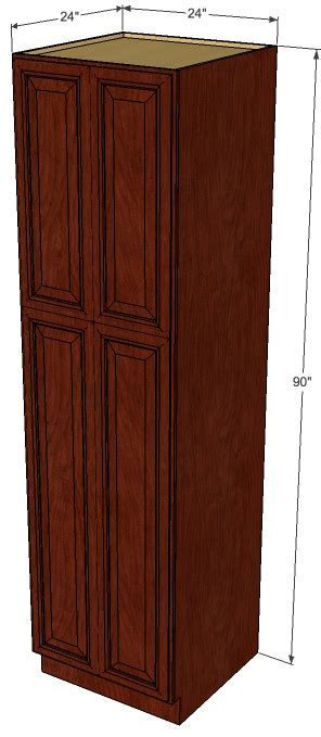 Brandywine Maple Pantry Cabinet Unit 24 Inch Wide x 90