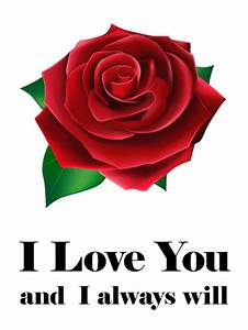 I Love You Red Rose Card | Birthday & Greeting Cards by Davia
