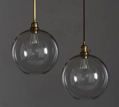 glass globe pendant light pb classic glass globe pendant pottery barn