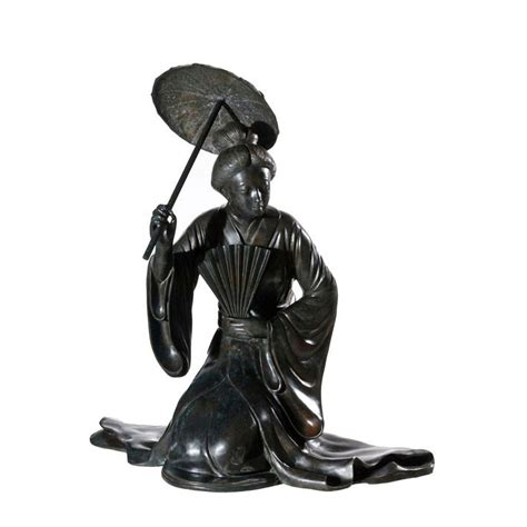 shade sculpture bronze japanese lady with shade sculpture metropolitan galleries inc