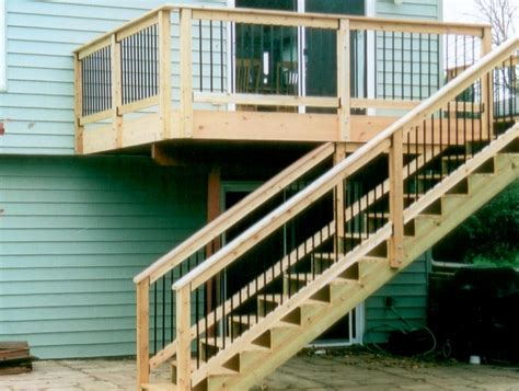 wood deck stairs designs home design ideas