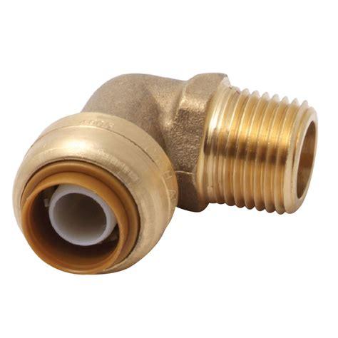 shark bite plumbing dzr brass 90 degree mnpt x push fit fittings u280lf