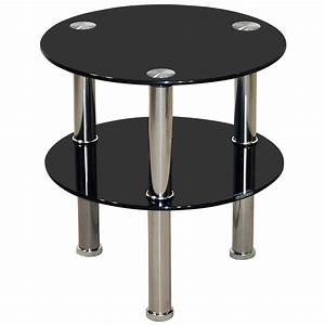 Chrome glass round end lamp small side coffee table for Small chrome coffee table