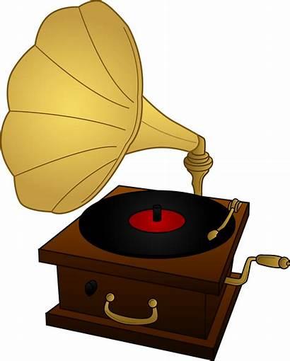 Record Player Gramophone Clip Colored