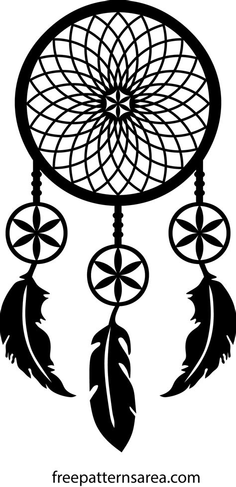 Dreamcatcher Template by Meaning Of Catcher And Printable Vector Pattern