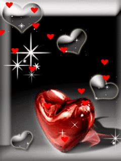 Animated Cute Heart Flying Nokia Mobile Wallpapers 240x320