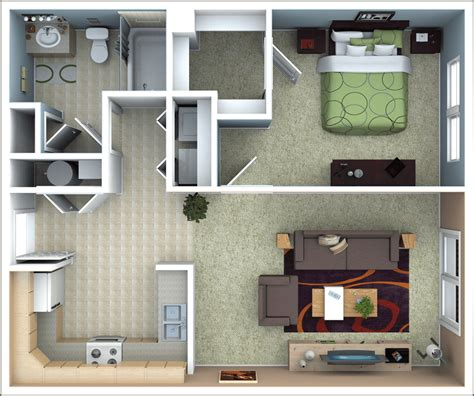 1 Bedroom Apartments Ky by Richmond Apartments Floor Plans