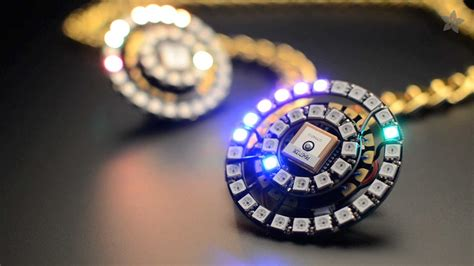 How Make A Lava Lamp by Neopixel Ring Clock With Flora Youtube