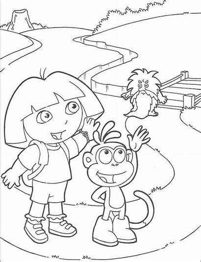 Coloring Pages Farewell Goodbye Dora Explorer Adios