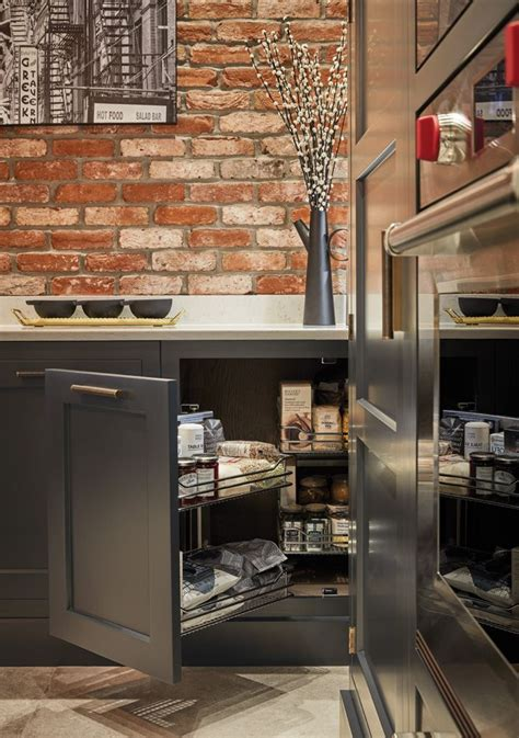 Brick Kitchen Cupboards by Exposed Brick Kitchen In 2019 Luxury Kitchens Storage