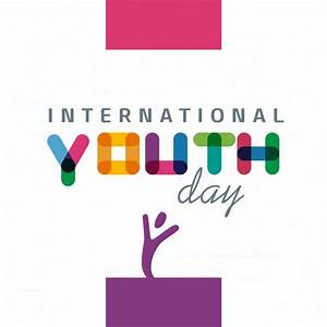 International youth day, full color Vector | Free Download