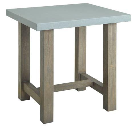 concrete top end table concrete top end table from coaster 704247 coleman