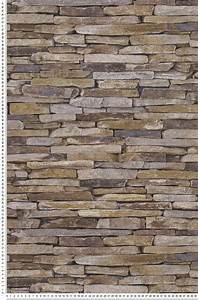 Papier Peint Imitation Pierre Naturelle : trompe l 39 il pierres plates naturelles wood 39 n stone papier peint pinterest papier peint ~ Nature-et-papiers.com Idées de Décoration