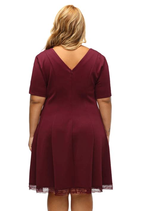 HD wallpapers lace skater dress plus size