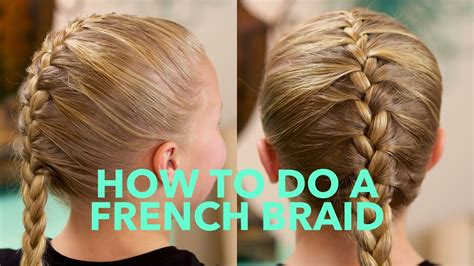 simple french braid basic braids youtube