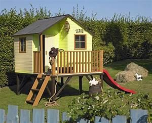 Maisonnette En Bois Sur Pilotis : la maisonnette bois louis la cabane des enfants ~ Dailycaller-alerts.com Idées de Décoration