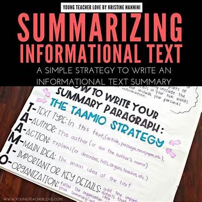 Text Informational Summarizing Graphic Organizer Youngteacherlove Writing