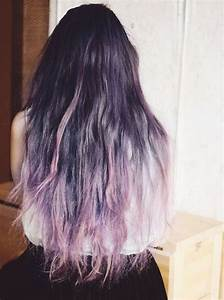 Dark brown / black / silver / purple ombre | becoming ...