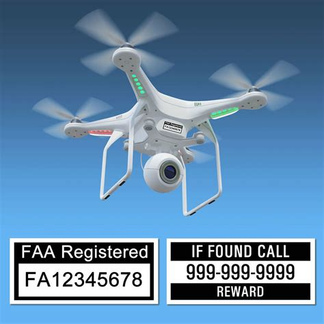drone labels faa uas certificate  registration  phone number ebay