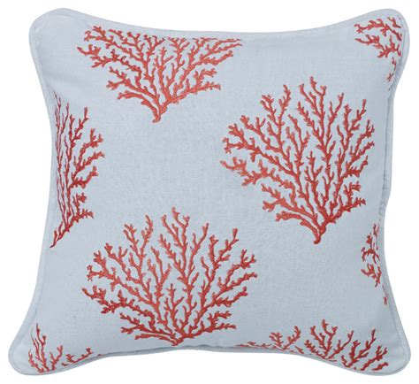 coral colored decorative accents salmon colored embroidered coral pillow decorative