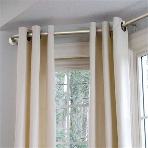 how to dress corner windows drapery bay window curtain rod improvements