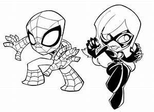 Chibi Spider Man Coloring Coloring Pages
