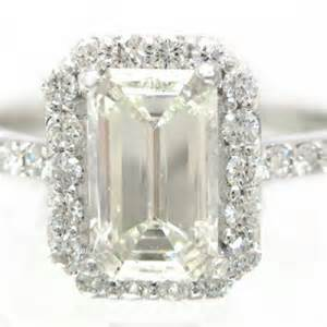 gold emerald cut engagement rings emerald cut engagement ring 14k white gold prong set d knrinc jewelry on