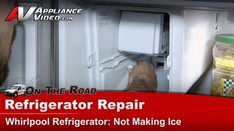 whirlpool gzfsrxyy refrigerator repair  making ice ice maker appliance video